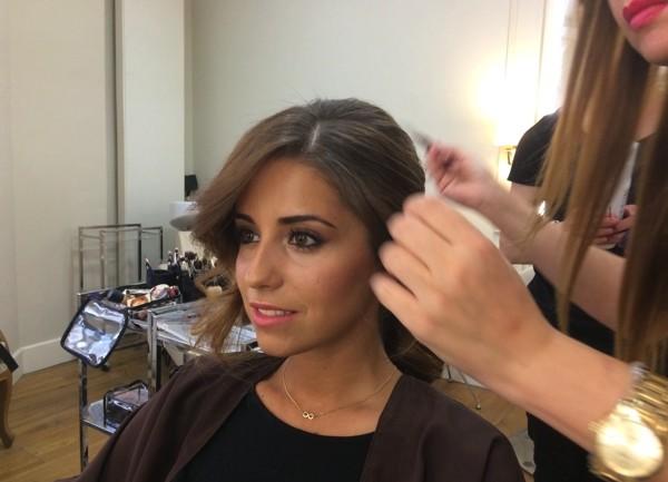 Maquillaje y peinado de la boda