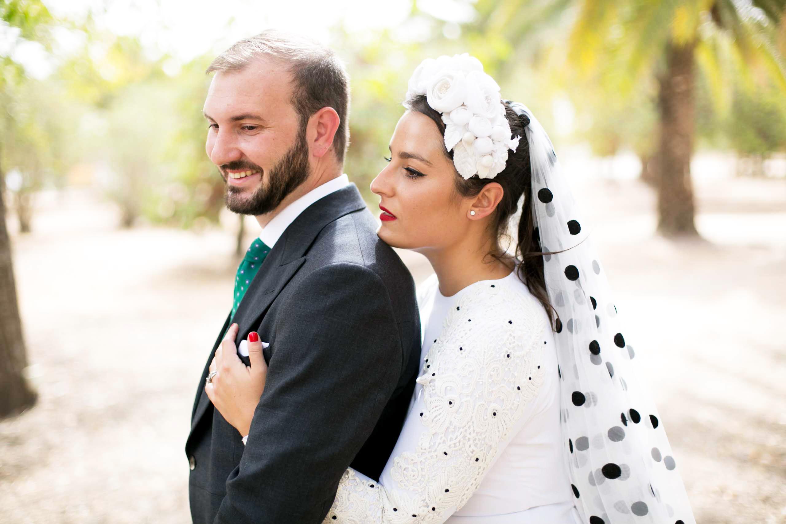 La novia del velo de lunares: la boda de Johanna y Fermín